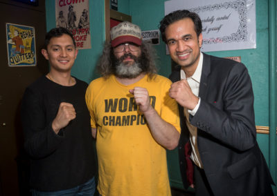 Sachin and Anish with Judah Friedlander (Netflix, NBC's 30 Rock)