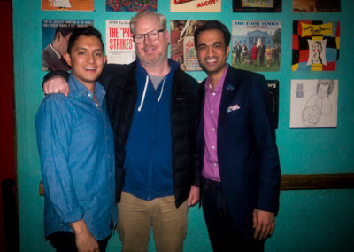 Sachin and Anish with Jim Gaffigan (5 Netflix specials)