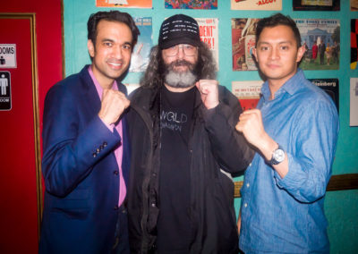 Sachin and Anish with Judah Friedlander/World Champion