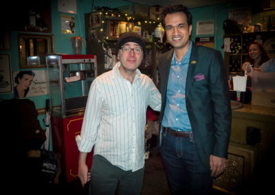 Sachin with Todd Barry (Netflix, HBO's Master of None)
