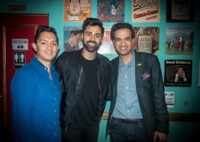 Sachin and Anish with Hasan Minhaj (2017 White House Correspondent's Dinner, Netflix)
